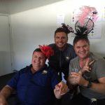 The Trandos gang celebrating Melbourne Cup